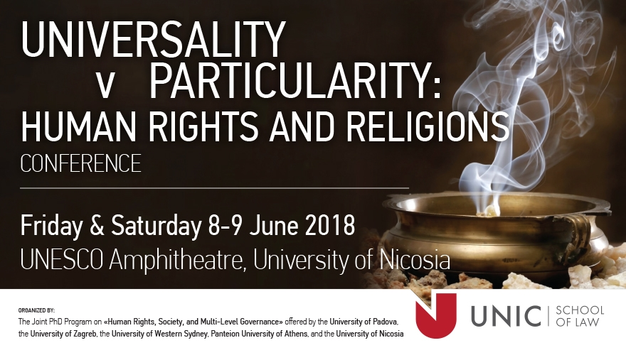 Universality v Particularity: Human Rights and Religions, International Law Conference