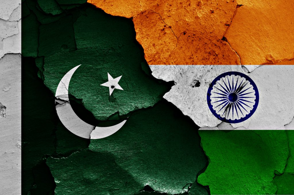 Bandiere di India e Pakistan