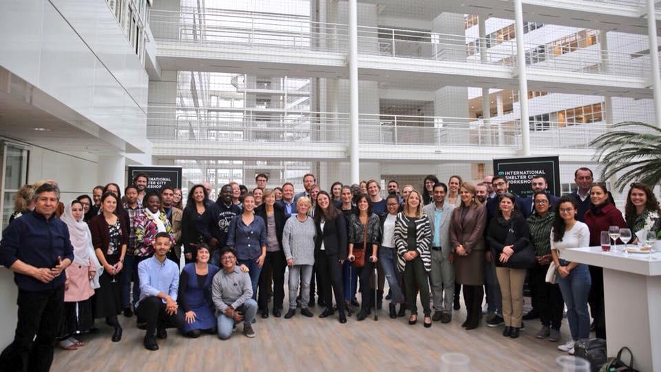 Partecipanti all'International Shelter City Workshop 2019 accolti dalla municipalità de L'Aja