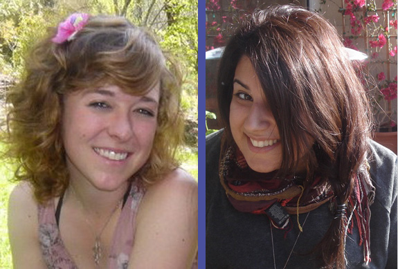 American interns Kathleen Kruckenberg (on the left) and Talin Galoosian (on the right)