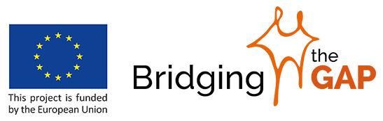 """logo """"Bridging the gap"""""""