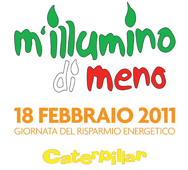 "Logo of the Campaign ""M'illumino di Meno"" promoted by Caterpillar radio show, 2011"