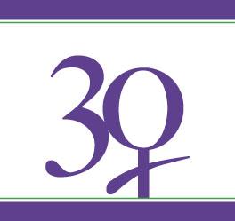 Il logo ufficiale delle celebrazioni per il 30 anniversario della CEDAW.