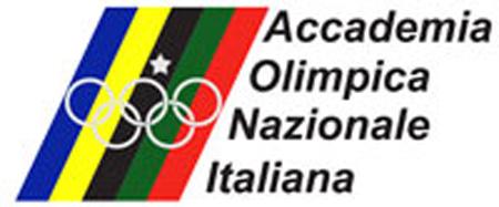 Logo con i colori dell'Accademia Olimpica Nazionale Italiana