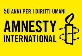 Logo di Amnesty International in occasione del 50° anniversario
