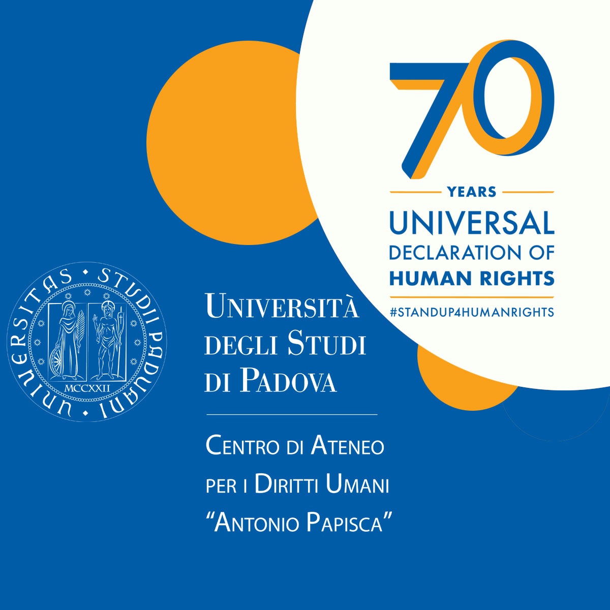 Logo 70° Universal Declaration of Human Rights Human Rights Centre