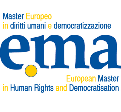 Logo ufficiale del Master Europeo in diritti umani e democratizzazione (e.ma)