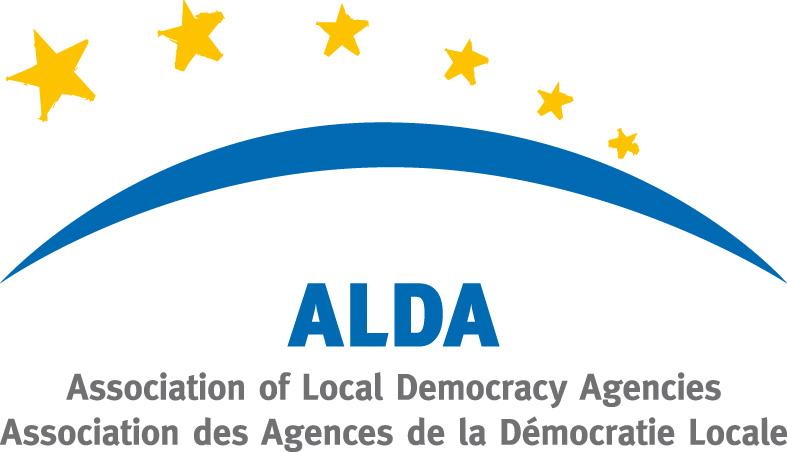 Logo ufficiale dell'Associazione delle Agenzie della Democrazia Locale (ALDA)
