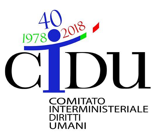 Logo per le celebrazioni del 40° anniversario dell'istituzione del Comitato Interministeriale per i Diritti Umani