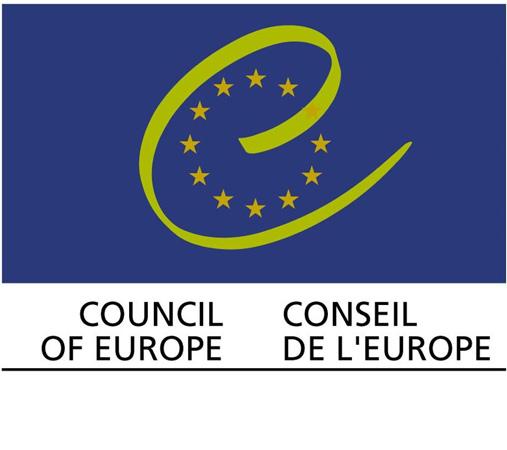 Logo istituzionale del Consiglio d'Europa, istituito il 5 maggio 1949. Il Consiglio d'Europa, con sede a Strasburgo (Francia), raggruppa oggi 47 Stati membri del continente europeo
