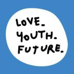 "Logo della campagna ""Love Youth Future"""