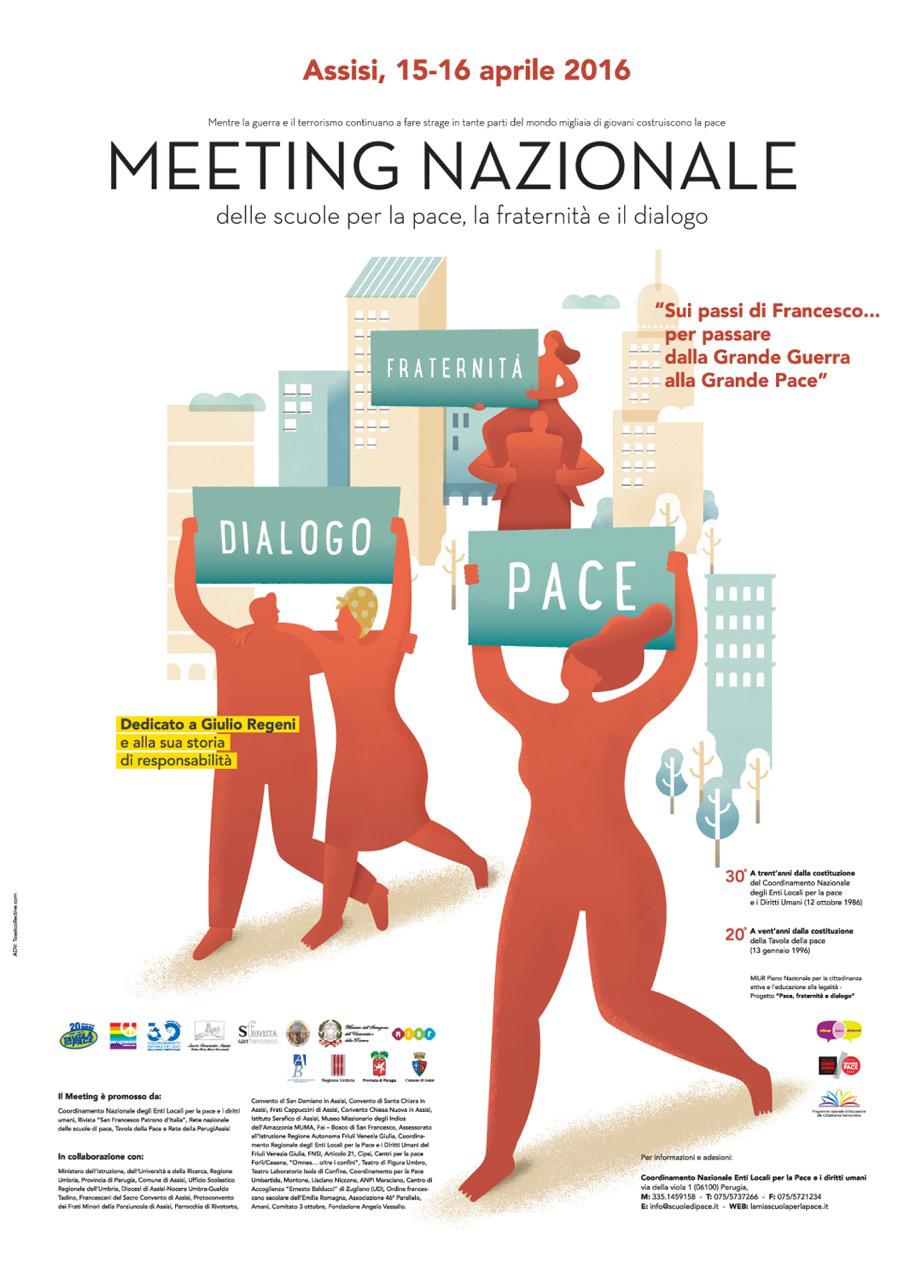 Meeting nazionale delle scuole per la pace, la fraternità e il dialogo, Assisi, 15 -16 aprile 2016