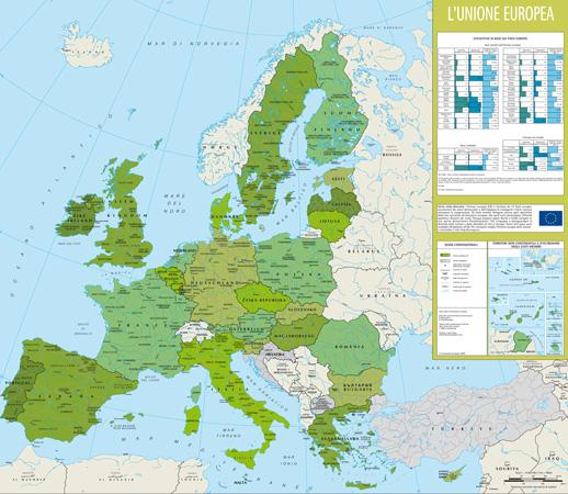 Cartina Unione Europea.Mappa Dell Unione Europea 27 Stati Membri