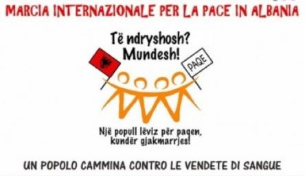 Logo marcia internazionale per la pace in Albania
