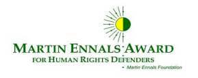 Logo del Martin Ennals Award