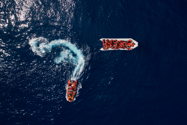 Rescue of migrants in the Mediterranean sea