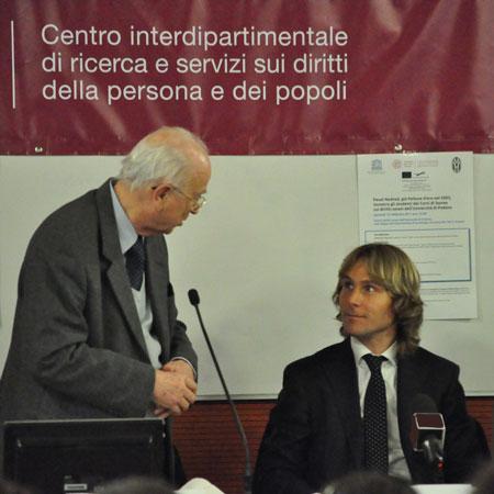 Antonio Papisca e Pavel Nedved