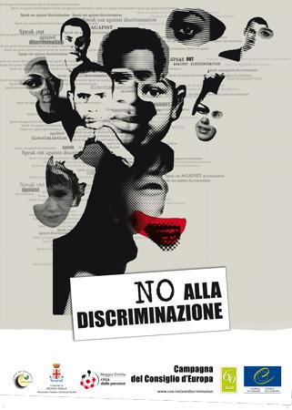 """Poster della Campagna """"No alla discriminazione"""" del Consiglio d'Europa, 2010"""