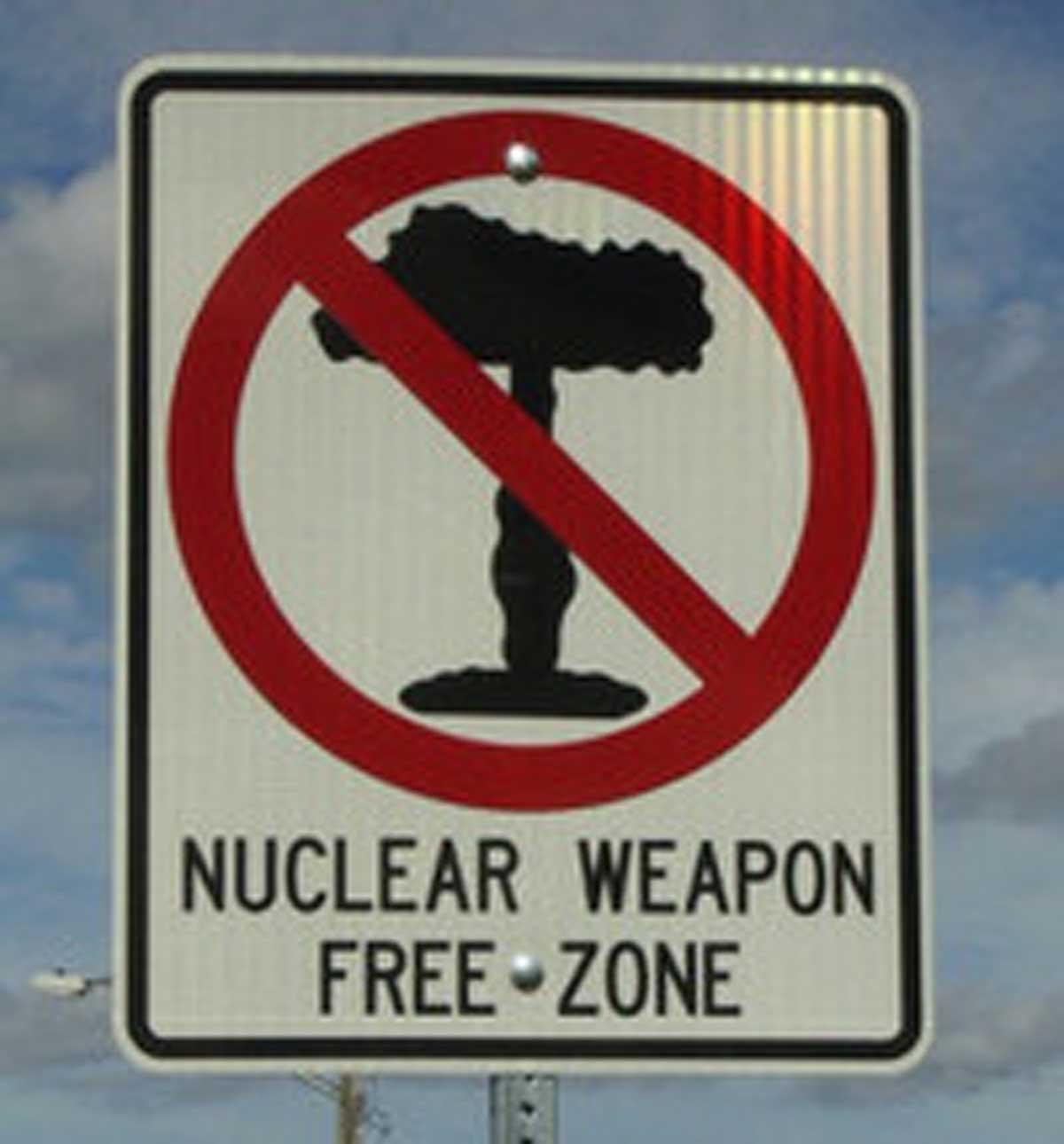 segnaletica di area priva di armi nucleari