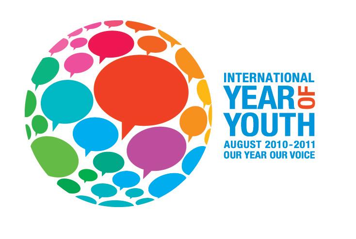 Logo ufficiale dell'Anno nNternazionale della Gioventù