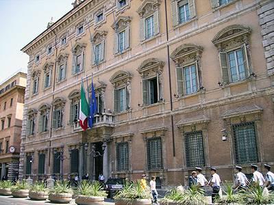 Palazzo Madama facade, Senato della Reppublica