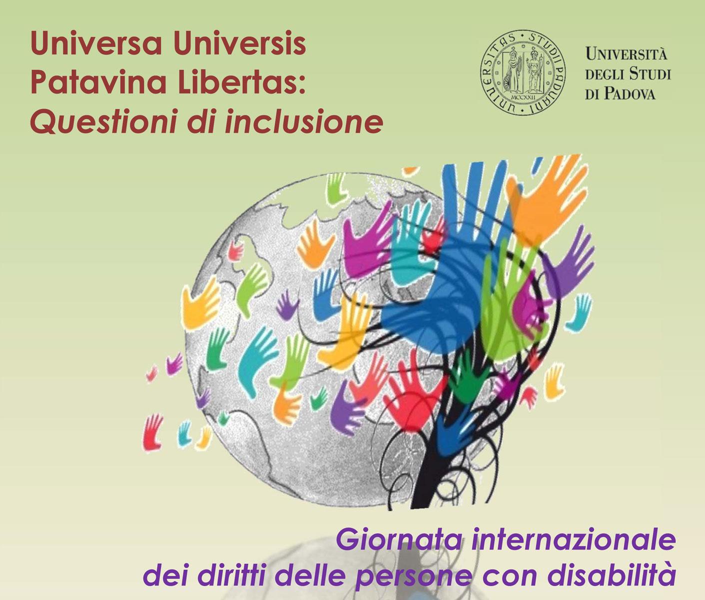 Università di Padova, Questioni di inclusione, 3 dicembre 2015, Giornata Internazionale delle Persone con Disabilità