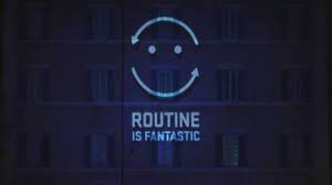 "Logo della campagna ""Routine is fantastic"" dell'UNHCR"