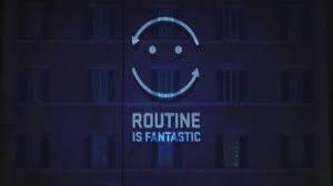 """Logo della campagna """"Routine is fantastic"""" dell'UNHCR"""