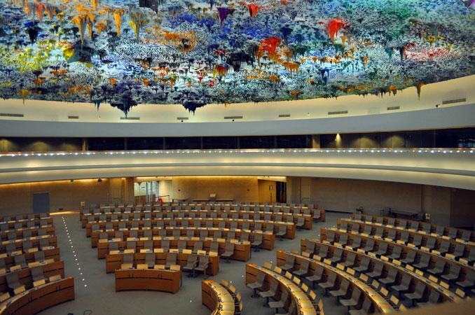 Sala del Consiglio dei diritti umani, Ginevra, 2013