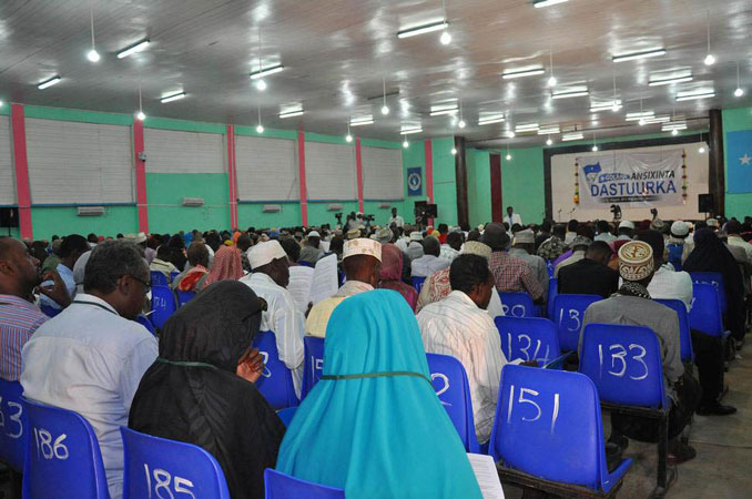 I delegati dell'Assemblea Costituente Somala ad una sessione plenaria a Mogadisho, 2012
