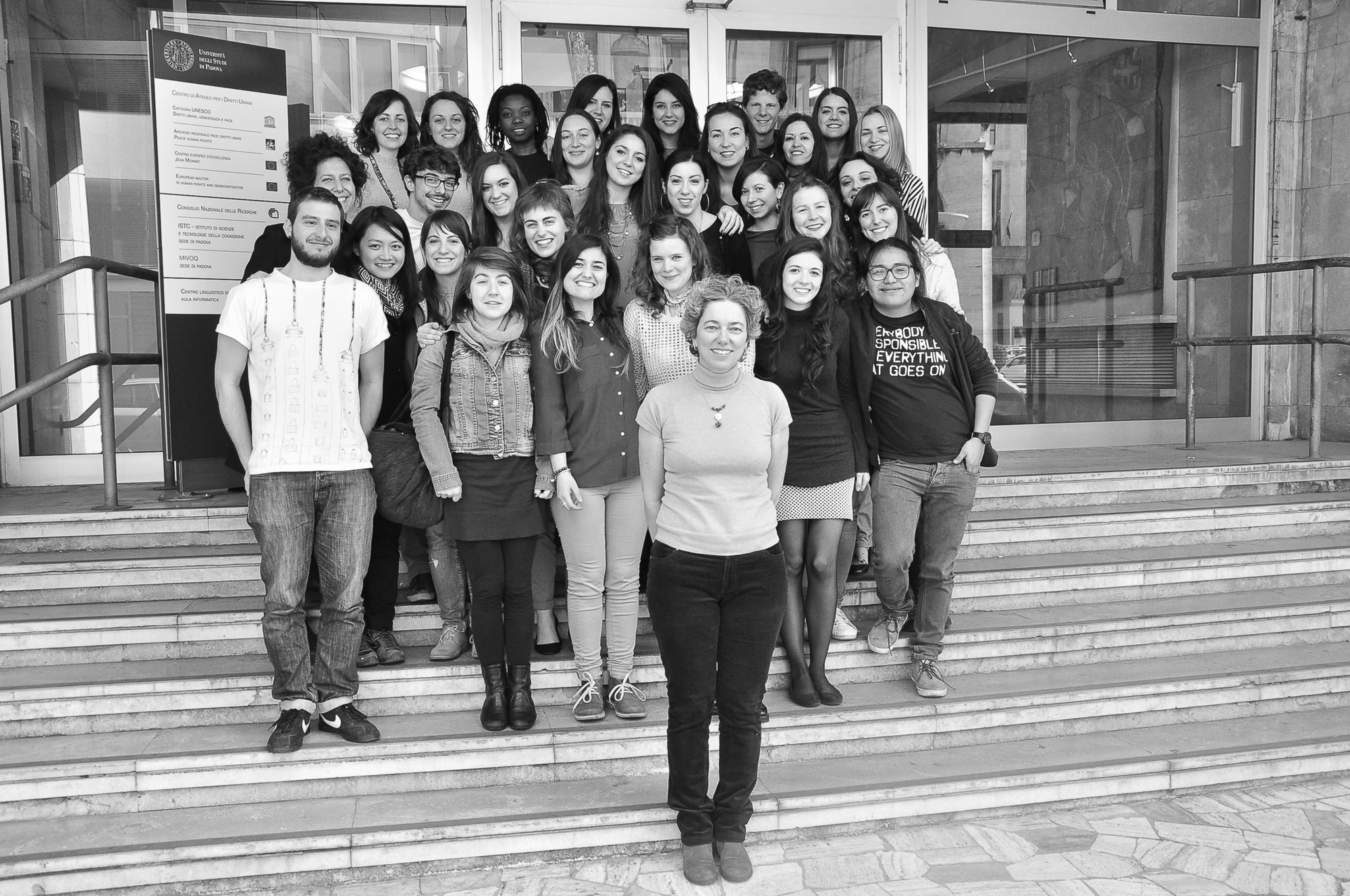 Students of the Master's Degree in Human Rights and Multi-level Governance, A.A. 2014/2015, at the end of the course on Women's human rights held by Luisa Cremonese