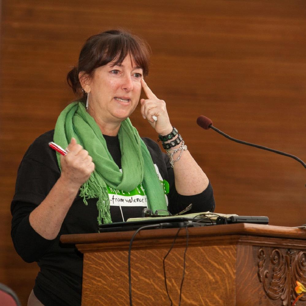 Suezann Bosler, fondatrice di Journey of Hope associazione di parenti delle vittime contro la pena capitale