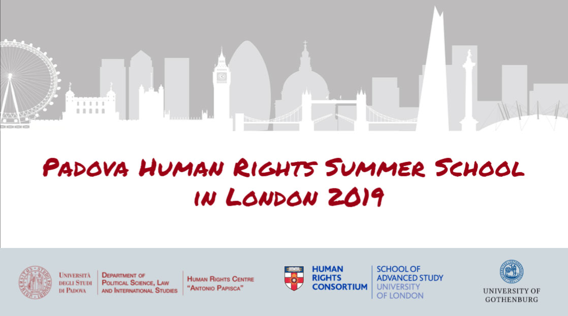 "Summer School ""Normativity and Reality of Human Rights"" (2019): Situations of human rights vulnerability to AI and ICT, London, SAS, July 7-12, 2019"