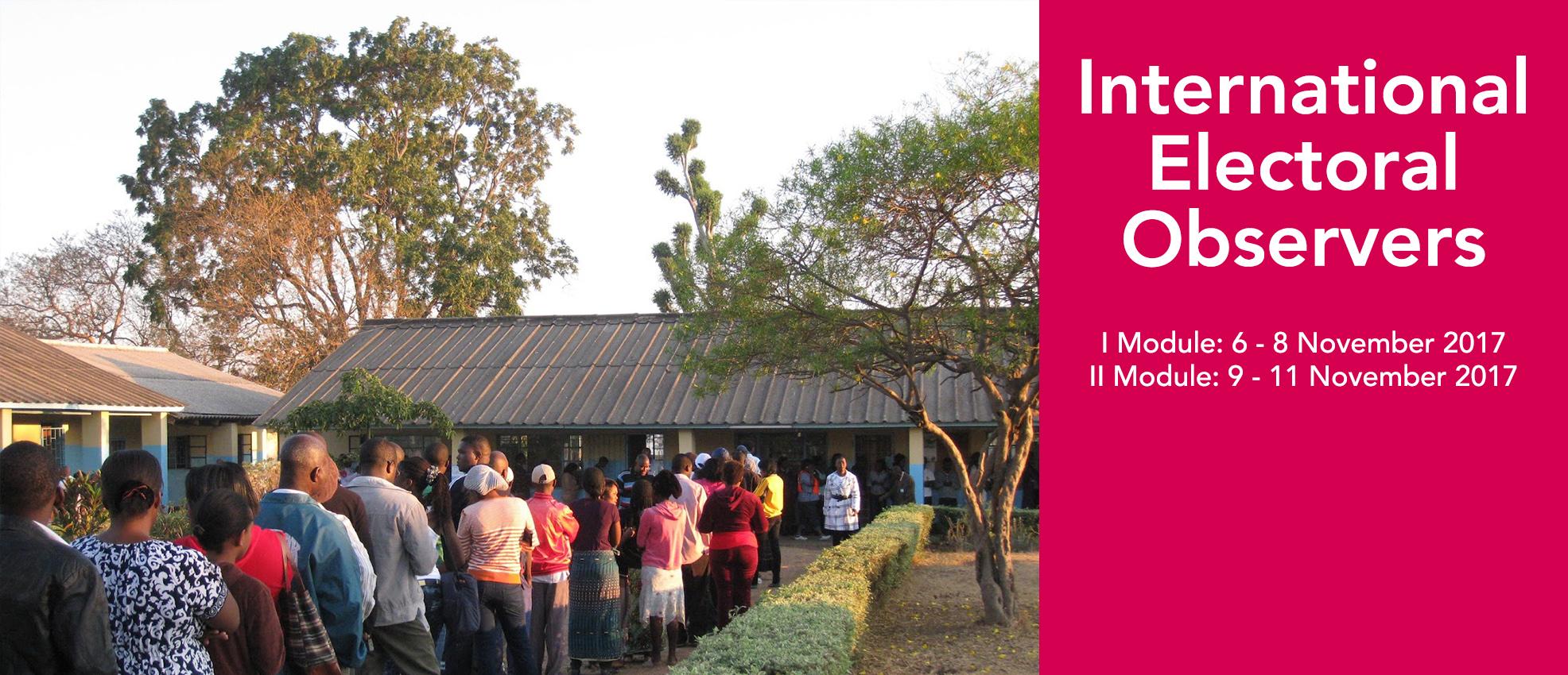 EIUC: Training for International Electoral Observers - Nov 2017