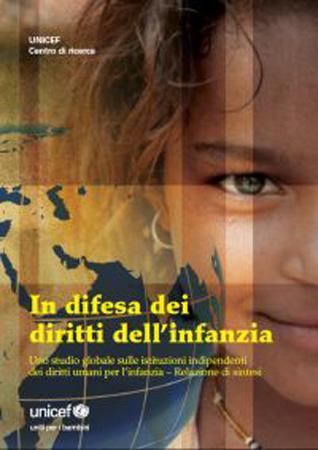 Copertina della pubblicazione con una bambina nello sfondo e il titolo dello studio in evidenzia
