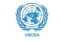 Logo dell'UNODA, Ufficio delle Nazioni Unite per le questioni legate al disarmo