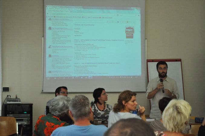 """Centro diritti umani, incontro nell'ambito del progetto """"Un ponte per i diritti umani"""", 11 settembre 2012"""