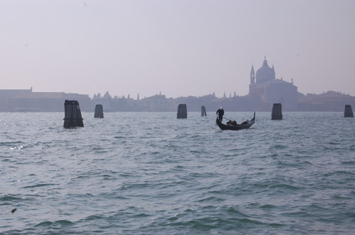 View of the Giudecca island from Saint Mark Square, Venice