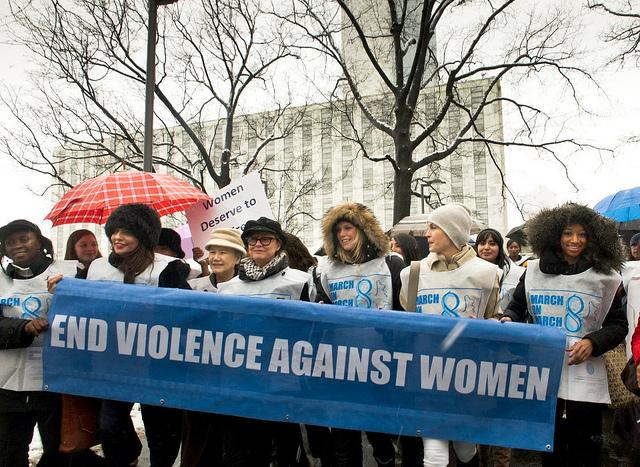 """UN Women for Peace"" March Marking International Women's Day."