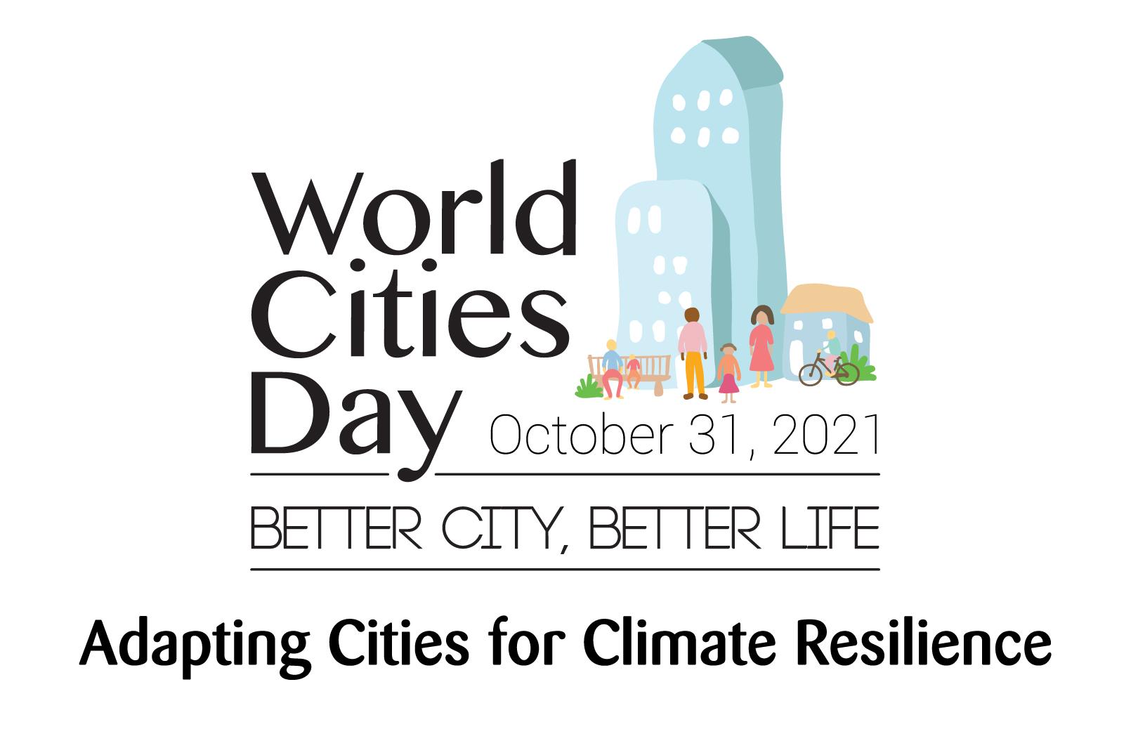 Logo della Giornata mondiale delle città 2021