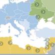 Mappa dei Paesi coinvolti dalla Politica europea di vicinato