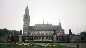 Veduta esterna del Palazzo della Pace all'Aia (Paesi Bassi), sede della Corte Internazionale di Giustizia, organo delle Nazioni Unite