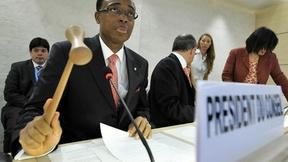 Martin Uhomoibhi, Presidente del Consiglio Diritti Umani, dà il via ai lavori dell'undicesima sessione, 2009.