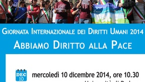 International Human Rights Day 2014: We have a ritght to peace