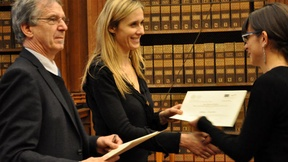"Handing over of Jean Monet Certificates to students of the Jean Monnet course ""Sport and Human Rights in the European Union Law"" by Annamaria Marasi, Padua, March 2011"