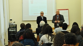 Biblioteca del Centro Diritti Umani, lezione del prof. Massimo Panebianco sul tema dei diritti fondamentali.