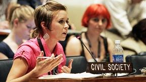 Rappresentanza della società civile partecipa ad un Panel sugli Obiettivi di sviluppo del millennio, Nazioni Unite, New York 2008