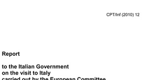 Cover of the European Committee Report for the prevention of torture in occasion of its fifth periodic visit to Italy, 14-26 September 2008