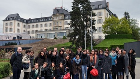 Students of the University of Padua at the study trip to Geneva, 19-23 May 2013