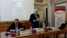 From left, Prof. Giuseppe Giordan, Prof. Marco Mascia, Prof. Adam Possamai
